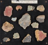 DECORATED WALL PLASTER FRAGMENTS FROM BELL LANE-GLEVUM, GLOUCESTERSHIRE, ROMAN, 1ST CENTURY AD