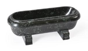 AN ITALIAN MODEL OF A ROMAN BATH IN GREEN SERPENTINE MARBLE, LATE 19TH CENTURY
