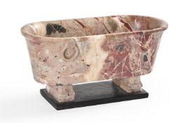 A MODEL OF A ROMAN BATH IN DIASPRO TENERO DI SICILIA MARBLE, MID 19TH CENTURY