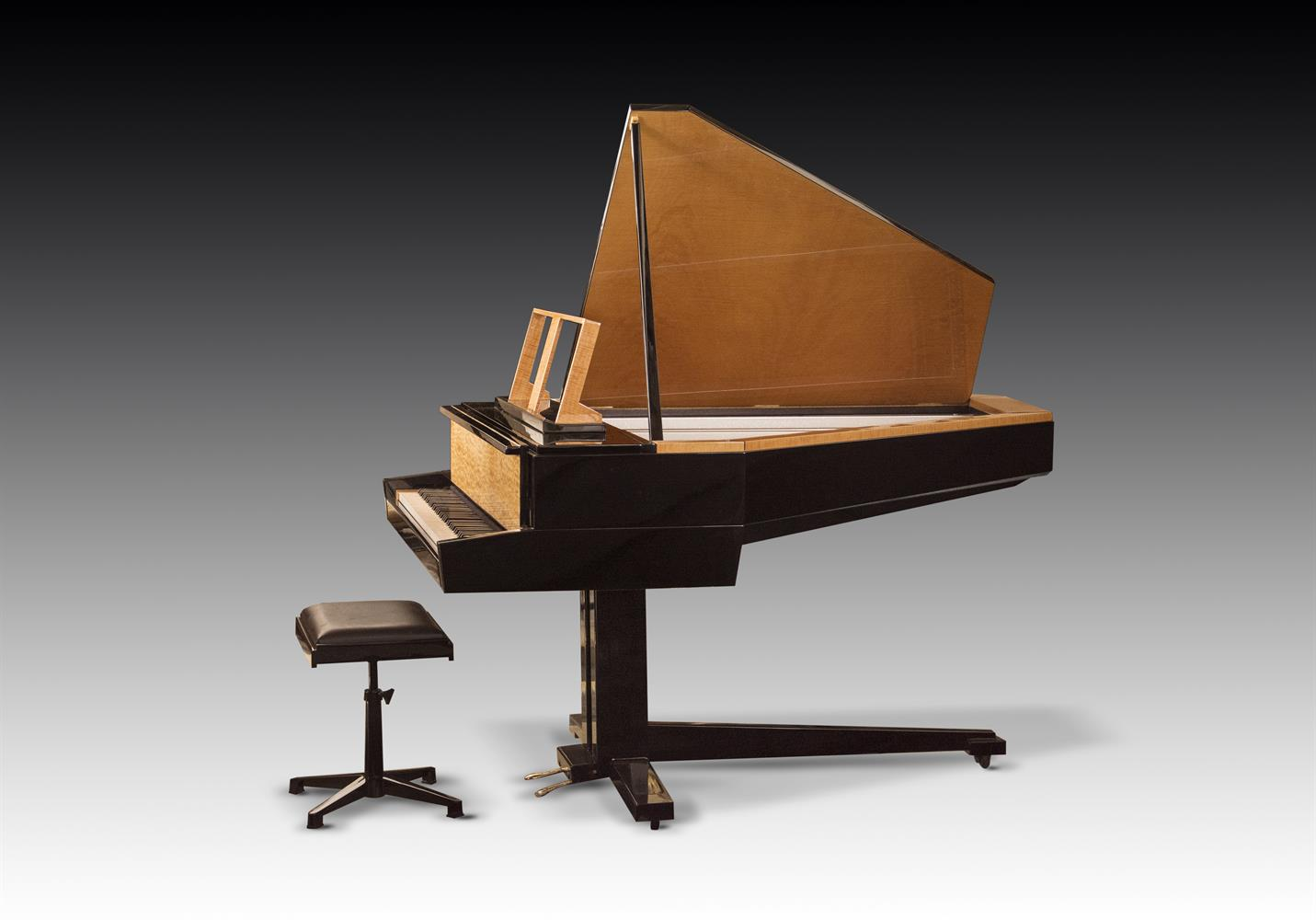 † LINDNER; A 6'2'' 'TILTING WING' SCHWANDER ACTION GRAND PIANO, CIRCA 1970