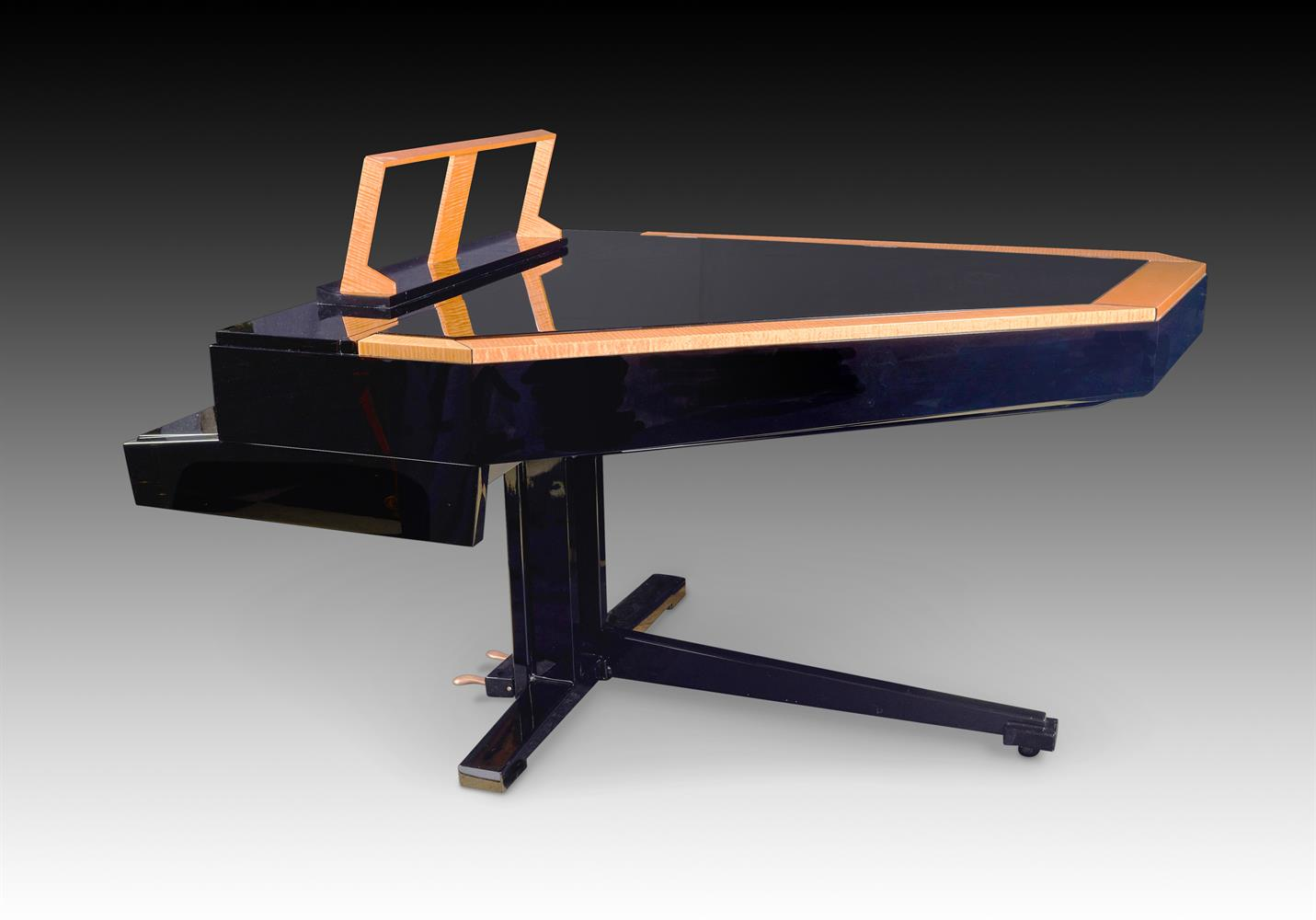 † LINDNER; A 6'2'' 'TILTING WING' SCHWANDER ACTION GRAND PIANO, CIRCA 1970 - Image 5 of 5