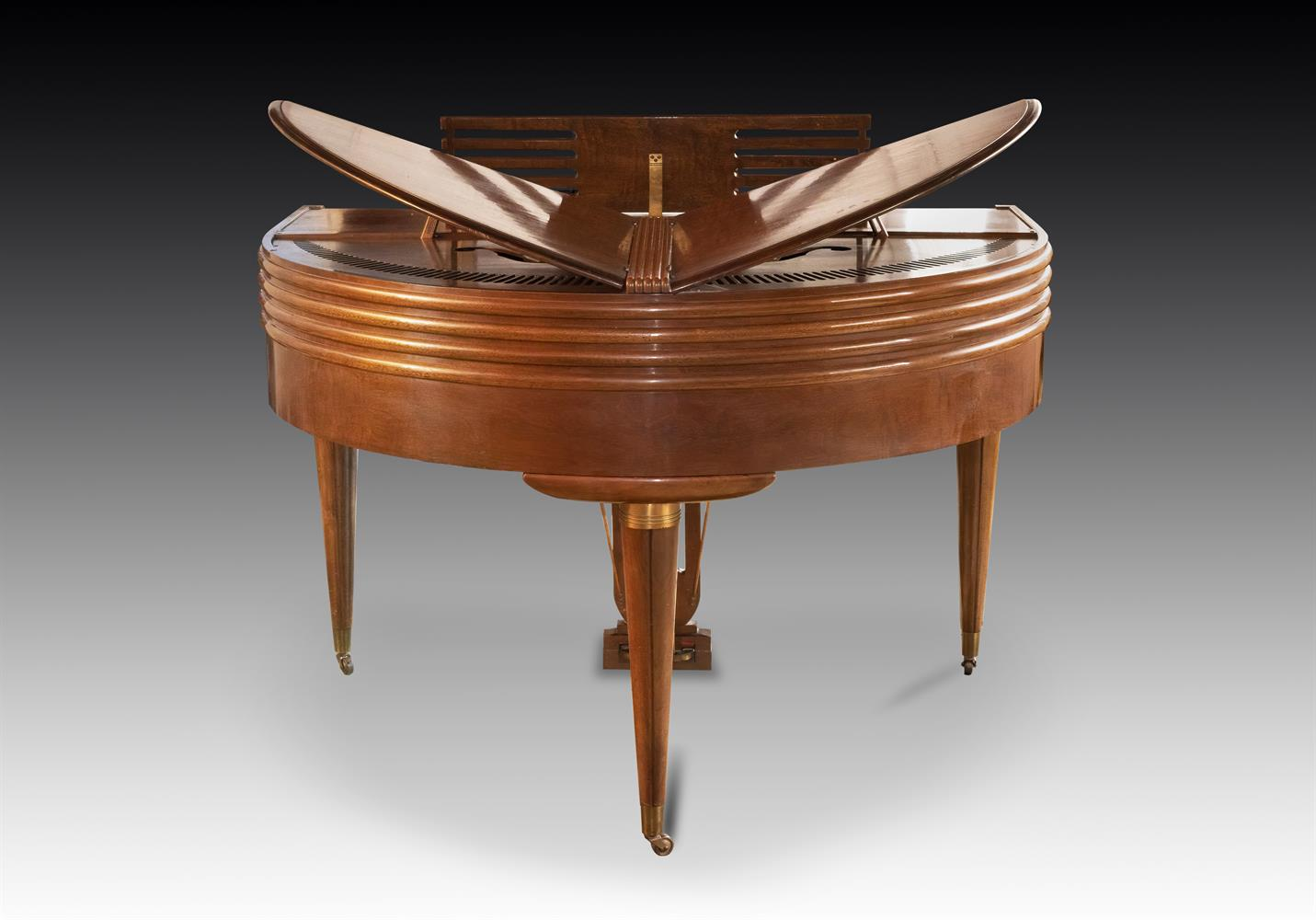 † WURLITZER, CINCINNATI; A 4'1'' BUTTERFLY GRAND PIANO, CIRCA 1937 - Image 4 of 7
