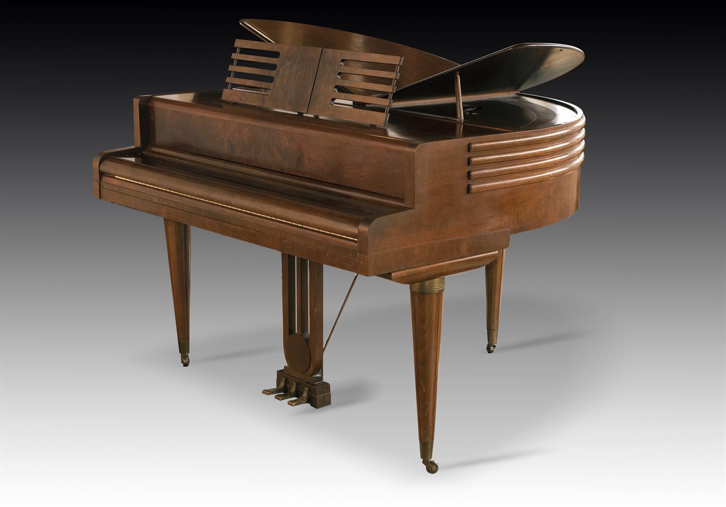 † WURLITZER, CINCINNATI; A 4'1'' BUTTERFLY GRAND PIANO, CIRCA 1937
