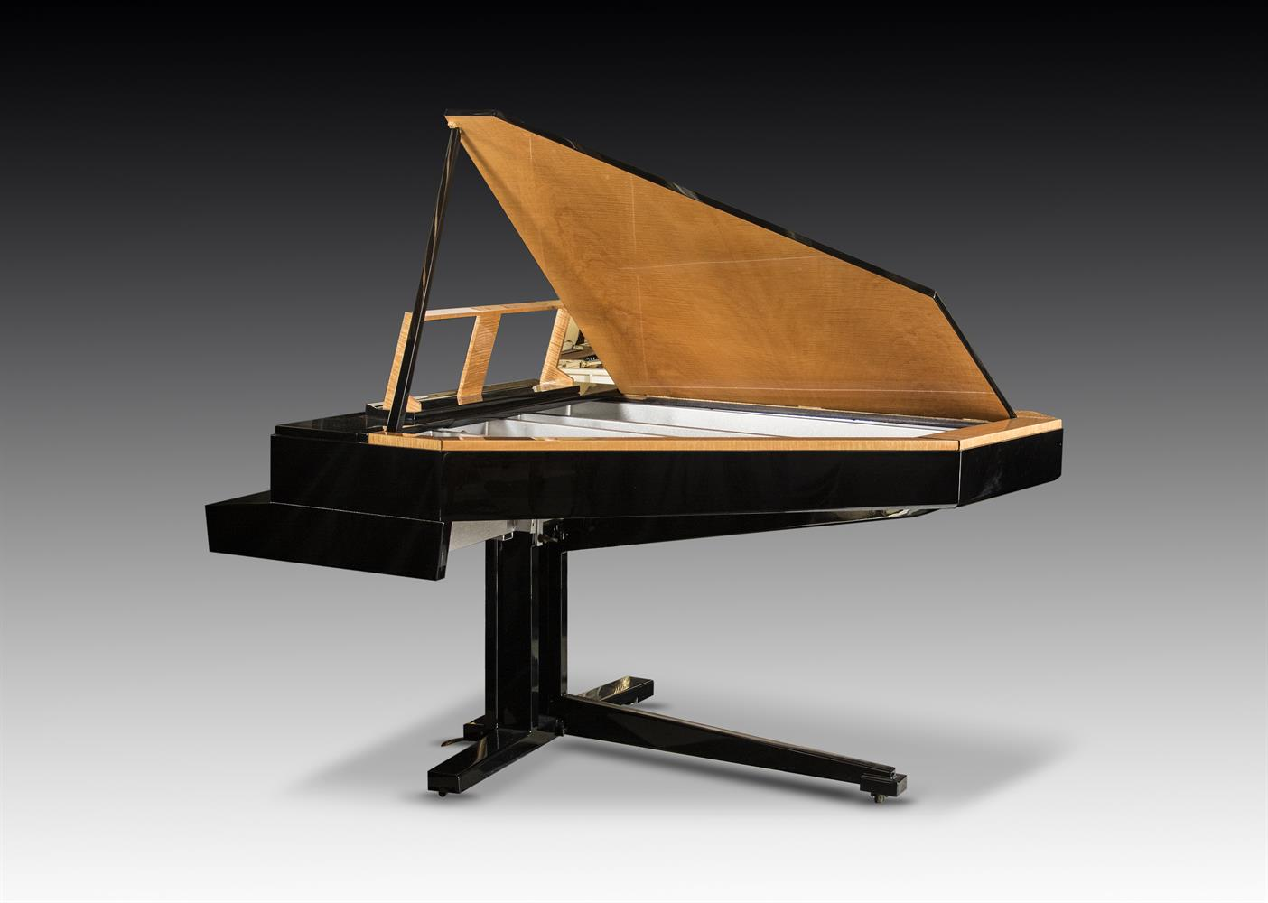 † LINDNER; A 6'2'' 'TILTING WING' SCHWANDER ACTION GRAND PIANO, CIRCA 1970 - Image 3 of 5