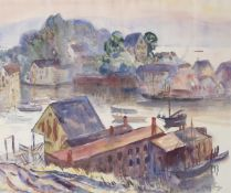 Richard Hayley Lever (American 1876-1958), Fish Houses