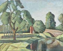 λ Tom Malone (British 1913-1986), Landscape: Homage to Cezanne