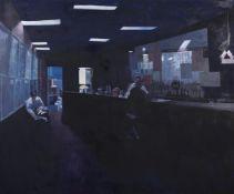λ Hector McDonnell (Irish b. 1947), Bowling-Alley Bar