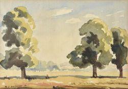 λ Walter Steggles (British 1908-1997), Trees at Bourne End