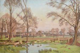 λ Adrian Paul Allinson (British 1890-1959), Water meadow landscape