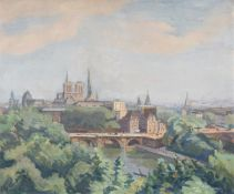 Jean Marchand (French 1883-1940), A view of the Seine with Notre Dame
