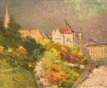 Gyula Háry (Hungarian 1864-1946), View of Budapest