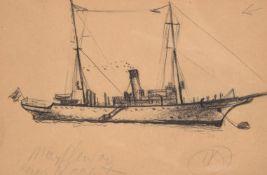 Richard Hayley Lever (American 1876-1958), The Mayflower yacht