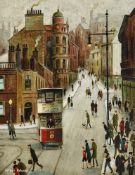 λ Arthur Delaney (British 1927-1987), Bridge Street, Stockport