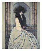 λ Robert Plisnier (Belgian b. 1951), Woman in white dress