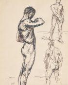 Théophile Alexandre Steinlen (French/Swiss 1859-1923), Head and figure studies