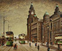 λ Arthur Delaney (British 1927-1987), The Liver Building, Liverpool