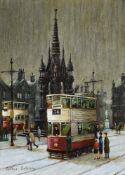 λ Arthur Delaney (British 1927-1987), Tram in front of the Albert Memorial