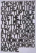 Christopher Wool (American b. 1955) & Felix Gonzalez-Torres (American/Cuban 1957-1996), Untitled