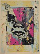 Shepard Fairey (American b. 1970), Enhanced Disintegration (Pink)