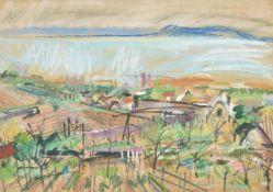 λ Zsigmond Uhrig (Hungarian 1919-1993), Badacsonyi landscape