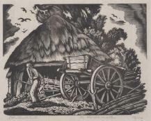 λ Ethelbert White (British 1891-1972), Threshing; The hurdle makers