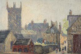 Richard Hayley Lever (American 1876-1958), Church at Concarneau