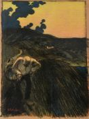 TAttributed to Theophile Steinlen (French/Swiss 1859-1923), The Close of the Day