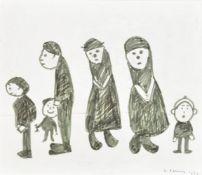 λ Laurence Stephen Lowry (British 1887-1976), Six Figures