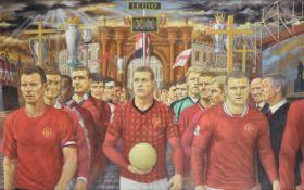 λ Michael J. Browne (British 21st century), Manchester United in Procession
