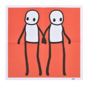 λ Stik (British b. 1979), Holding Hands (Red, Orange, Yellow, Blue & Teal)