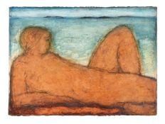 λ John Emanuel (British b.1930), Figure Against a Skyline