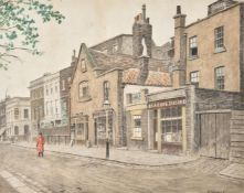 Walter Greaves (British 1846-1930), A Chelsea Pensioner outside the Kings Head