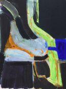 λ Adrian Heath (British 1920-1992), Untitled (black and green abstract)