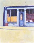 λ Hector McDonnell (Irish b. 1947), Shop near Dublin Castle