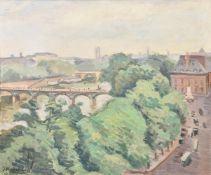 Jean Marchand (French 1883-1940), View of the Seine