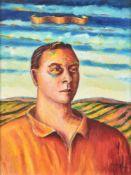 λ Neil MacPherson (British b.1954), Portrait of man in landscape