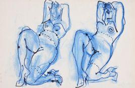 λ John Piper (British 1903-1992), Two blue nudes