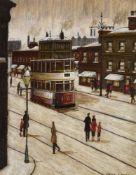 λ Arthur Delaney (British 1927-1987), Waiting for the tram, Cheetham Hill