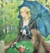 λ Suzanne Bechely Beadle (British 20th century), The Blue Umbrella