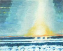 λ John Houston (Scottish 1922-2020), Sea and Evening Sky, Arisaig, 2004