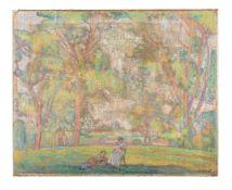 Jean Blailé (Swiss 1907-1992), Figures in a landscape
