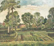 λ Kathleen Tyson (British 1898-1982), Village landscape