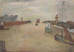 λ Celso Lagar (Spanish 1891-1966), The port at Honfleur