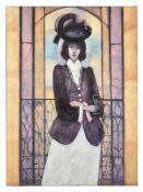 λ Robert Plisnier (Belgian b. 1951), Woman in hat