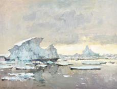 λ Edward Seago (British 1910-1974), Icebergs at Base 'W' off the Grahamland coast