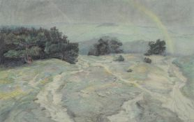 Emilie Mediz-Pelikan (Austrian 1861-1908), Landscape at Krems