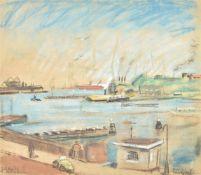 λ Piet van Wyngaerdt (Dutch 1873-1964), Harbour view