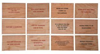 Jenny Holzer (American b.1950), Truisms (Set of 12)