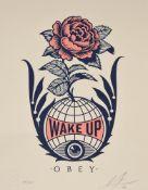 Shepard Fairey (American b.1970), Wake Up Earth 'OBEY'