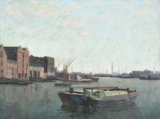 λ Harold Workman (British 1897-1975), River Thames from Tower Bridge